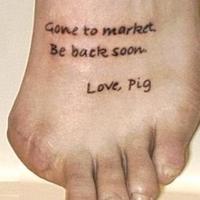 One little piggy...