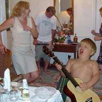 kid rocking out