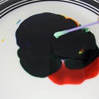 milk + food dye