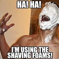the shaving foams