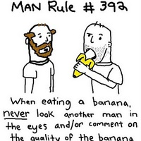 man rule on bananas