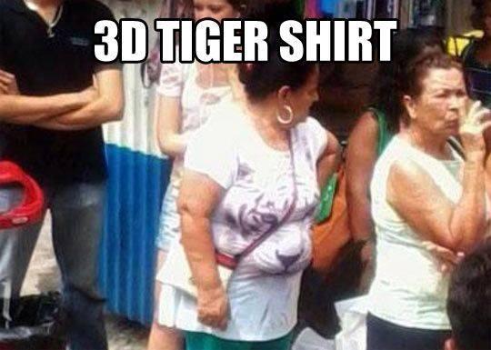 3D tiger shirt