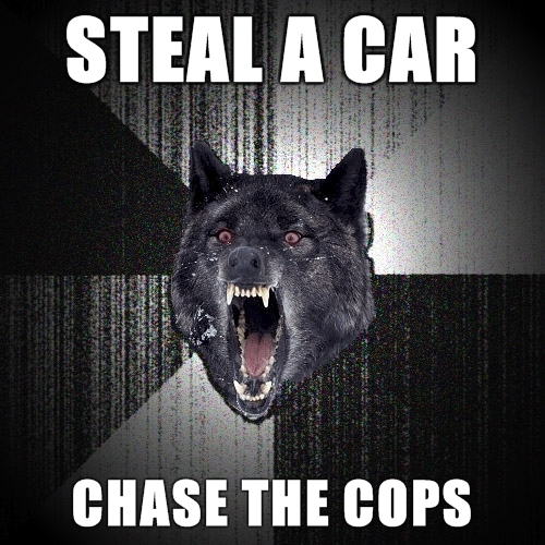 chase the cops
