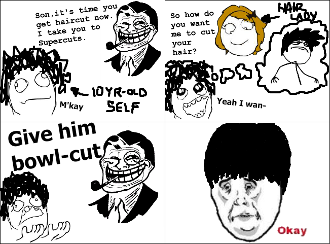 hahaha father troll haircut