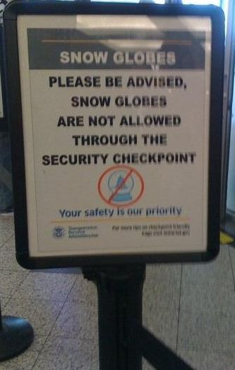 snow globes banned