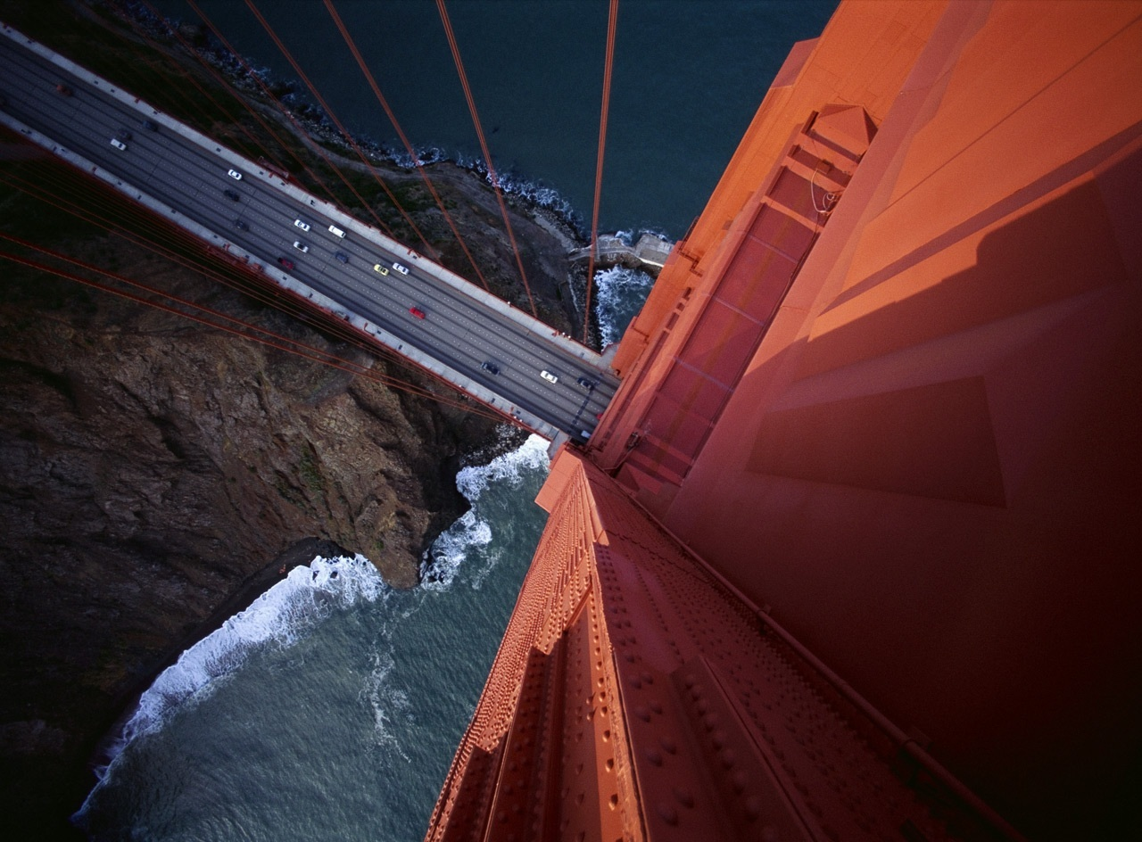 looking down from golden gate