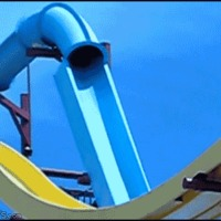 crazy waterslide