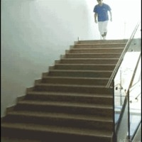 down stairs like a boss