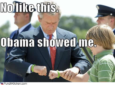 obama showed bush