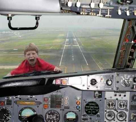 airplane kid problem