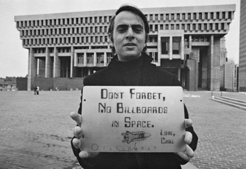 no billboards in space, carl sagan - pichars.org