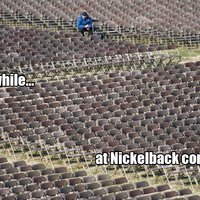 meanwhile at a nickleback concert