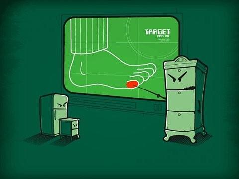targeting toes