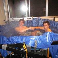 dorm room hot tub