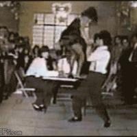 table dancing fail