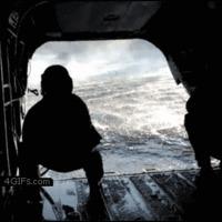 chopper picks up raft