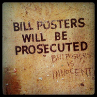 bill posters is innocent