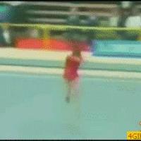 confused gymnast