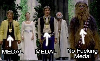 chewbacca gets no medal - pichars.org