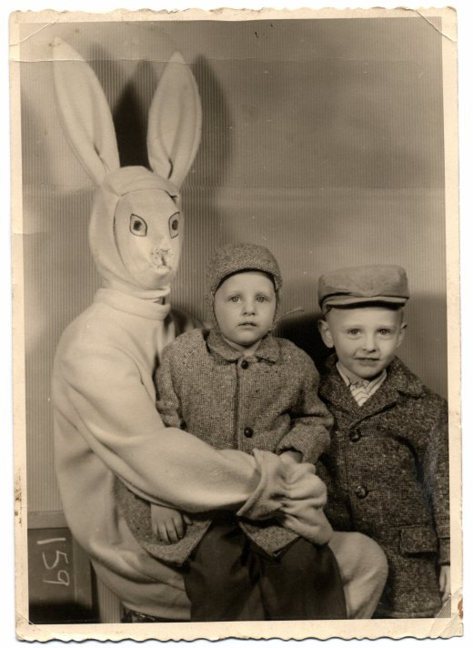 not the easter bunny! run!