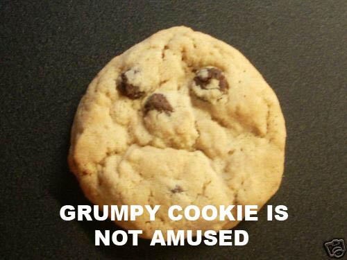 grumpy cookie is not amused