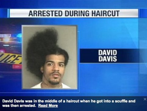 arrested during haircut - pichars.org