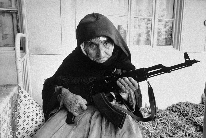 107 years old guarding with AK47