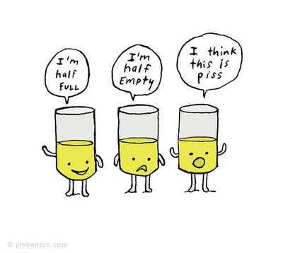 glass half full or empty