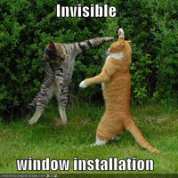 invisible window installation