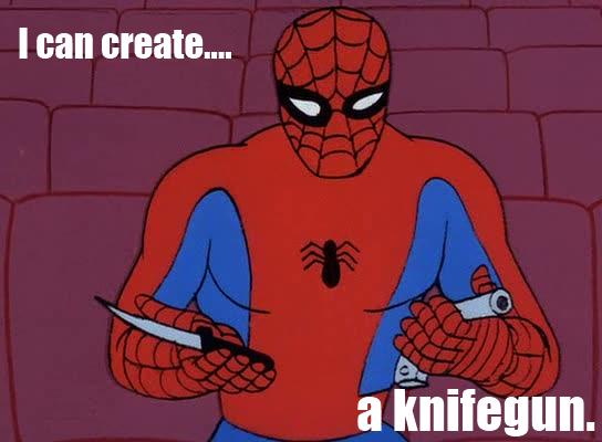 i can create a knifegun