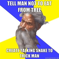 tell man not to eat from tree