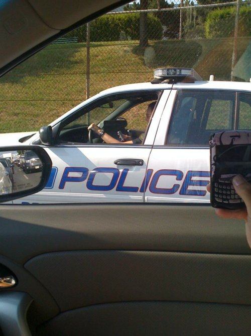 police texting while driving