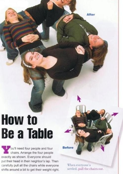 how to be a table - pichars.org