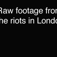 london riot footage