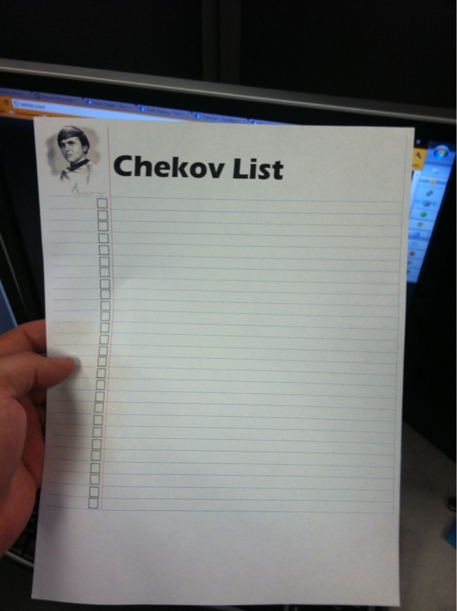 chekov list - pichars.org