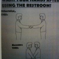 wash  hands restroom
