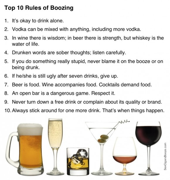 10 rules of boozing - pichars.org