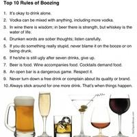 10 rules of boozing