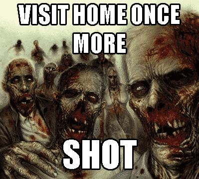 visit home and get shot