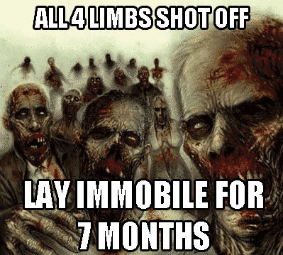 limbs shot off, so you must lay there immobile - pichars.org