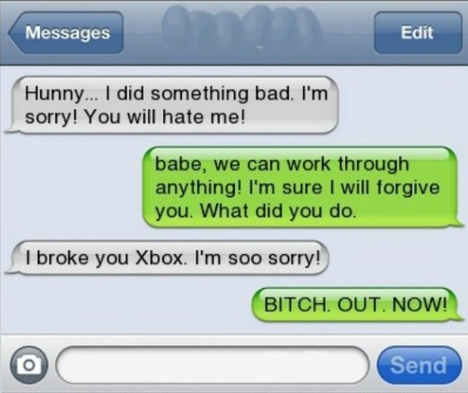 girlfriend breaks xbox