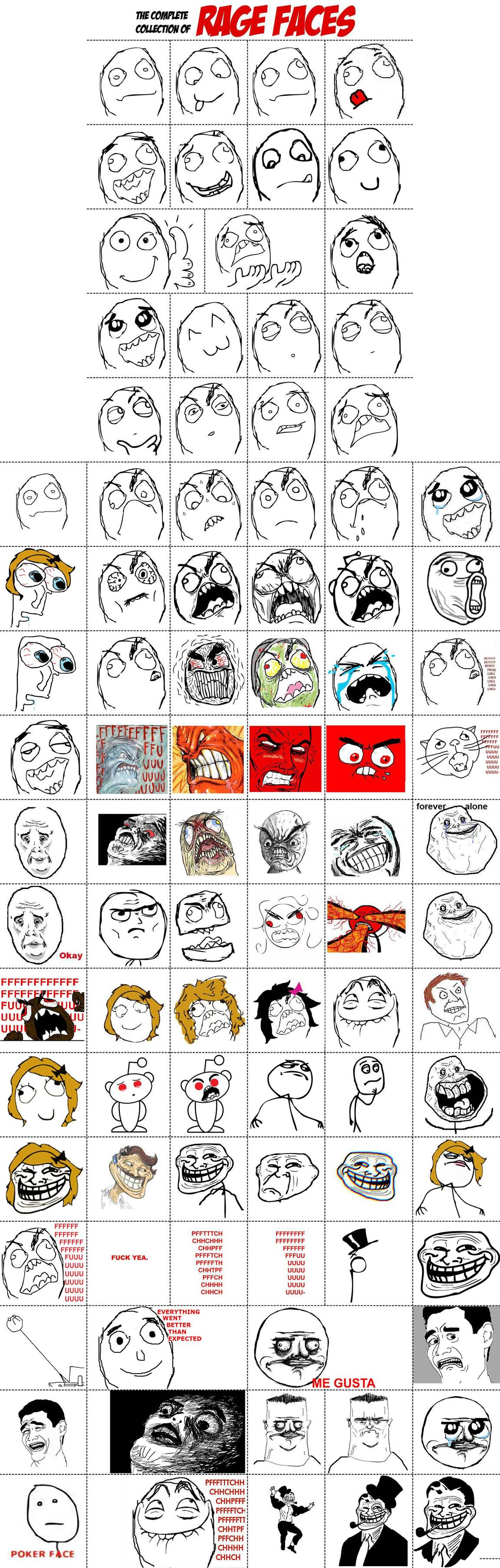 rage faces complete collection