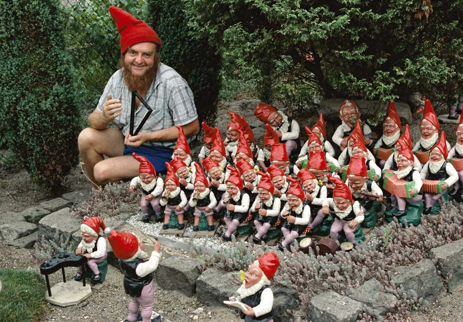 gnome with garden gnomes