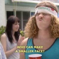 who can make a smaller face