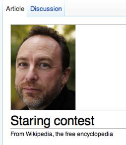 staring contest - pichars.org