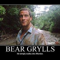 bear grills walks into mordor