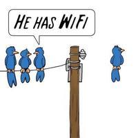 He has wifi