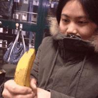 open banana inappropriately
