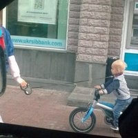 taking kid for a bike ride