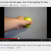 how to touch wall with apple